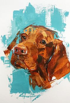 Expressive dog palette knife painting by unknownYou can find Dog art and more on our website.Expressive dog palette knife painting by unknown Droopy Dog, Palette Knife Painting, Watercolor Animals, Dog Portraits, Animal Paintings, Dog Toys, Dog Breeds, Photo Art, Fiction