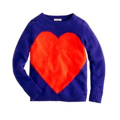 Girls' giant heart sweater - sweaters - Girl's new arrivals - J.Crew