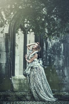 Emily Soto - Within these walls  Beautiful setting, and stunning dramatic dress. Striking pose and lovely composition.