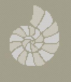 Seashell. Instant Download PDF Cross Stitch Pattern by PatternBird, $4.00