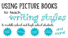 Picture books are great tools to teach writing styles! Lots of lesson ideas here!