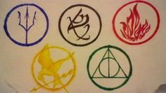 Awesome Fan Art / FANDOMS UNITE!! Percy Jackson The Mortal instruments Divergent Hunger Games Harry Potter