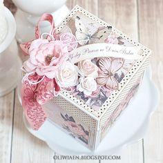 CraftHobby Oliwiaen: Rose Wedding Box. Slubny exploding box