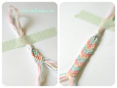 DIY Chevron Pastel Friendship Bracelet by claireabellemakes