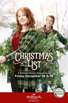 """Its a Wonderful Movie - Your Guide to Family Movies on TV: 'Christmas List' - a Hallmark Channel Original """"Countdown to Christmas"""" Movie starring Alicia Witt & Gabriel Hogan!"""
