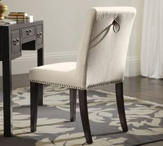 Chair with desk in spare room pottery barn