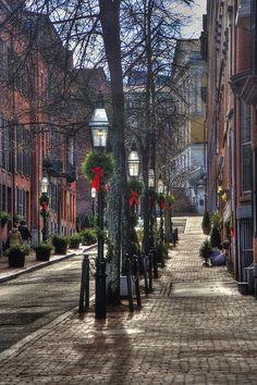 $15.95  A Stroll in Back Bay...Boston, Mass.