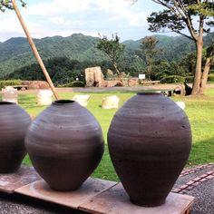 catherine-white: Wet jars in process in shigaraki Japan