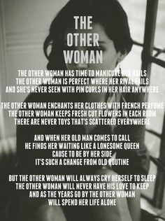 Lana Del Rey #LDR #The_Other_Woman, This song makes me bawl my eyes out everytime I listen to it