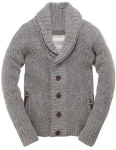 Superdry Men's Shawls Cardigan with a double shawl collar, two front pockets and hem logo patch.  AUD$153