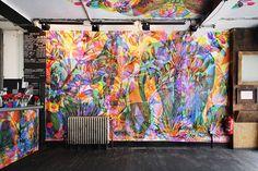 colour interior wallpaper printing - Google Search