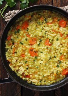 Cold Fighting Couscous Chicken Soup - full of health-supporting ingredients like turmeric, ginger, garlic and lemongrass, this ultra-comforting chicken soup is perfect when you're feeling under the weather (and even when you're not!) Recipe at SoupAddict Crock Pot Recipes, Chicken Recipes, Cooking Recipes, Healthy Recipes, Healthy Chicken Soup, Chicken Soups, Best Chicken Noodle Soup, Cooked Chicken, Chicken Chili