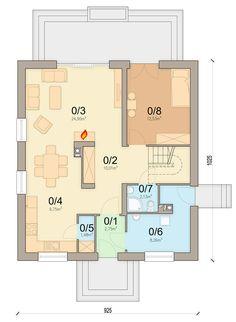DOM.PL™ - Projekt domu ARN Tamarillo 3 CE - DOM RS1-74 - gotowy koszt budowy Design Case, House Plans, Floor Plans, How To Plan, Houses, House Floor Plans, Floor Plan Drawing, Home Plans