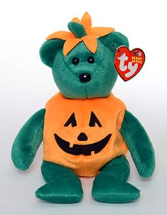 Tricky - Bear - Ty Beanie Babies~ one of the best halloween ones in my opinion. i own 2 of him :)