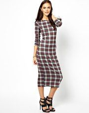 Glamorous Midi Dress In Tartan With Zip Back- this is a saved item on my account. I think I have no choice but to buy it!