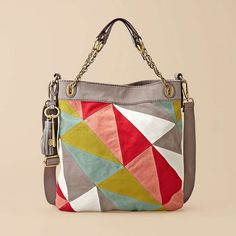 fossil jules hobo in bright patchwork. Fossil Handbags, Fossil Bags, Hobo Handbags, Fashion Handbags, Purses And Handbags, Fashion Bags, Fossil Purses, Boho Hippie, Ethnic Bag