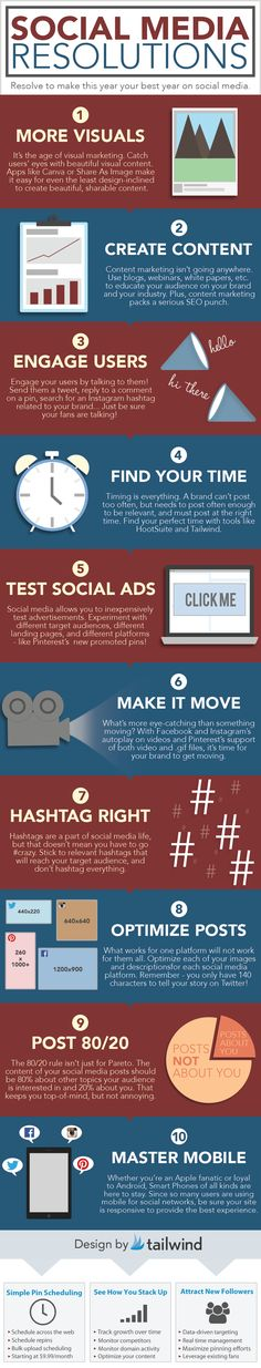 Social Media resolutions #infographic #socialmedia