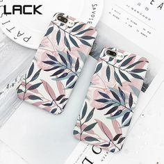 LACK Fashion Artistic Leaf Phone Case For iPhone 7 6 Plus frosted Hard Phone Bags For iPhone leaves Back Cover Funda Shell - For iphone 6 Mul Diy Iphone Case, Iphone Phone Cases, Iphone 7 Plus, Iphone Price, Accessoires Iphone, Aesthetic Phone Case, Cute Phone Cases, Iphone Accessories, Coque Iphone
