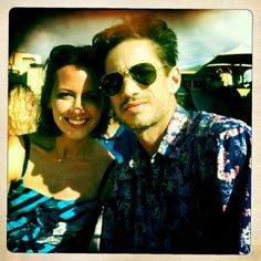 Amy with her husband, James Carpinello love them both!