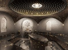 Hamam | design turkish bath by Nickolai Yegorov, via Behance