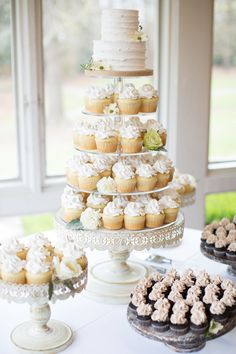 Stunning cake display by Cakes By Kim for John and Holly's big day at Aldridge Gardens. 3-28-15 Koli Nichols Photography