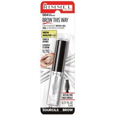 Rimmel Brow This Way Lightweight Brow Gel, 004 Clear- Walmart- $4