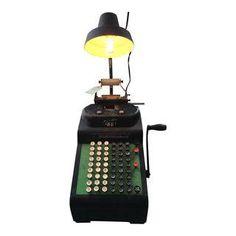 Image of Vintage Adding Machine Table Lamp Table Lamp, Ads, Lights, Steam Punk, Vintage, Store, Crafts, Design, Decor
