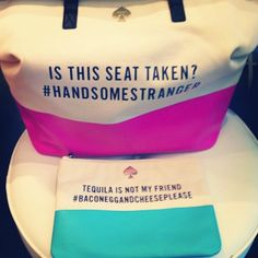 who knew purses could be funny? leave it to kate spade.