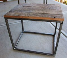 Mountain Wood Side Table by 2ndStoryWoodCo on Etsy, $175.00