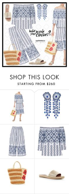 """""""OFF-SHOULDER"""" by shoaleh-nia ❤ liked on Polyvore featuring Miguelina, VanLeles and Sensi Studio"""
