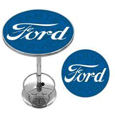 ford chrome pub table ford genuine parts pub table ford genuine parts