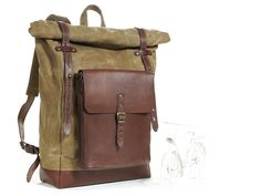 Waxed canvas backpack. Travel backpack. Canvas by InnesBags