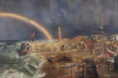 "Richard Eurich, ""Coast Scene with Rainbow"" (1952-1953)"