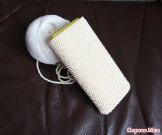 Чехол для телефона крючком с бисером - Вязание - Страна Мам
