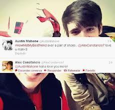 all because of a pair of shoes :) Austin Mahone & Alex Constancio