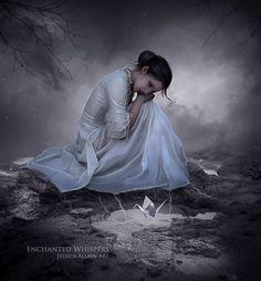 ♡♡♡ Dark Photography, Animal Photography, Pics Art, Art Pictures, Gothic Fantasy Art, Dream Book, Illustrations, Poses, Solitude