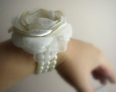 Items similar to prom wrist corsage silver wrist corsage for mother of the bride,mother of the groom, bling wrist corsage, wedding corsage, prom 2014 on Etsy