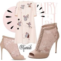 Fairy Tail by fineid on Polyvore featuring moda, Dolce&Gabbana, Deborah Lippmann and Old Navy