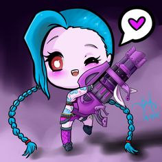 Man i love chibi jinx- So cute <3
