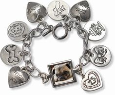 Charm Photo Bracelets with a picture of your precious pup that you will treasure forever! Available at http://doggyinwonderland.com/item_2029/Charm-Photo-Bracelets.htm