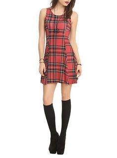 Red Plaid Dress   Hot Topic