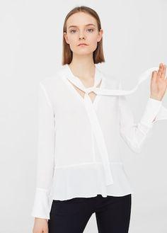 Blusa lazo cuello