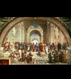This is a famous painting by Raphael of the school of Athens.
