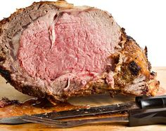 Prime Rib Roast recipes This prime rib roast recipe requires a little bit of math to calculate the cooking time, but it's easy and will give you perfect medium-rare roast. Rib Recipes, Roast Recipes, Cooking Recipes, Cooking Time, Game Recipes, Cooking Corn, Cooking Salmon, Cooking Classes, Recipes Dinner