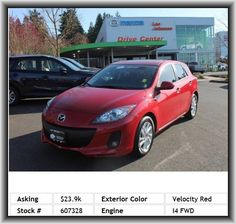 2013 Mazda MAZDA3 i Grand Touring Hatchback  Tires: Profile: 55, Silver Aluminum Rims, Cargo Area Light, Four-Wheel Independent Suspension, Cruise Control, Engine Immobilizer, Rear Hip Room: 52.2, Leather Steering Wheel Trim, Dual Front Air Conditioning Zones, Strut Front Suspension, Digital Audio Input, Type Of Tires: As, Independent Front Suspension Classification, Speed Sensitive Audio Volume Control, Audio System Premium Brand Speakers: Bose