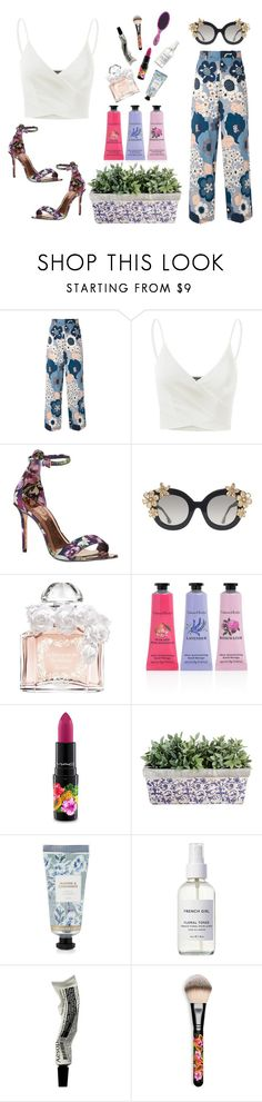 """floral"" by mermaids-dont-cry ❤ liked on Polyvore featuring Chloé, Doublju, Ted Baker, Alice + Olivia, Guerlain, Crabtree & Evelyn, MAC Cosmetics, David Jones, French Girl and Aesop"