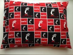 Travel Pillow Case - University of Cincinnati on Etsy, $10.00