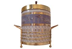 Glass & Brass Etruscan Ice Bucket on One Kings Lane