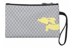 Yellow & Gray Dachshund Accessory Travel Bags