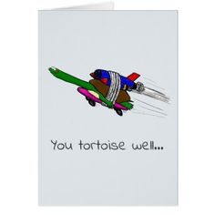 flying tortoise funny card. card - thank you gifts ideas diy thankyou